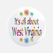 """West Virginia 3.5"""" Button"""