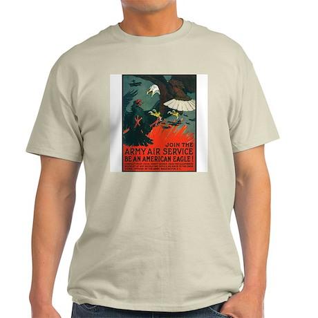 Army Air Service American Eagle Ash Grey T-Shirt