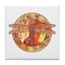 Hot Celtic Dragonfly Tile Coaster
