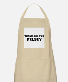 Thank God For Kelsey BBQ Apron