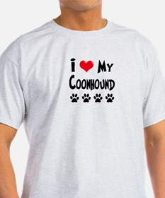I Love My Coonhound T-Shirt