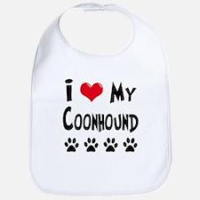 I Love My Coonhound Bib