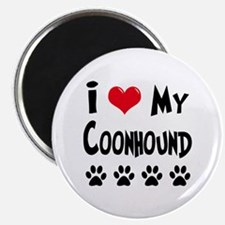I Love My Coonhound Magnet