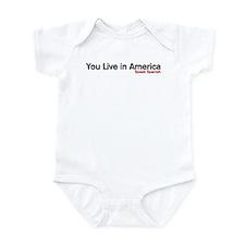You live in America. Speak Spanish Infant Bodysuit