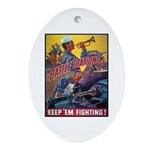 Battle Stations Oval Ornament