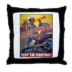 Battle Stations Throw Pillow