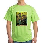 Battle Stations (Front) Green T-Shirt