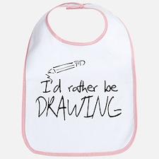 I'd Rather Be Drawing Bib