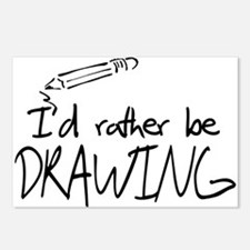 I'd Rather Be Drawing Postcards (Package of 8)