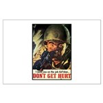 Don't Get Hurt Poster Art Large Poster