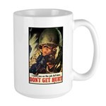 Don't Get Hurt Poster Art Large Mug