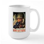 Don't Get Hurt Poster Art Large Mug