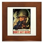 Don't Get Hurt Poster Art Framed Tile