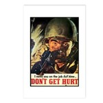 Don't Get Hurt Poster Art Postcards (Package of 8)