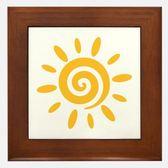 Sun Framed Tile