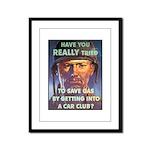 Save Gas Poster Art Framed Panel Print