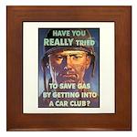 Save Gas Poster Art Framed Tile