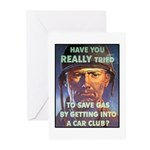 Save Gas Poster Art Greeting Cards (Pk of 10)