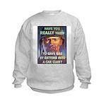 Save Gas Poster Art Kids Sweatshirt