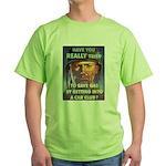 Save Gas Poster Art Green T-Shirt