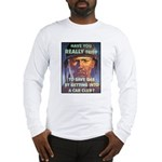 Save Gas Poster Art Long Sleeve T-Shirt