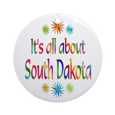 South Dakota Ornament (Round)