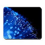 """Blue Fiber"" Mousepad"