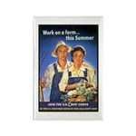 Work on the Farm Rectangle Magnet (10 pack)