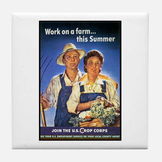 Work on the Farm Tile Coaster
