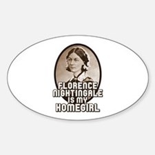 Florence Nightingale Sticker (Oval)
