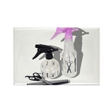 Hair cut spray bottle Rectangle Magnet