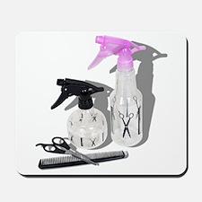 Hair cut spray bottle Mousepad