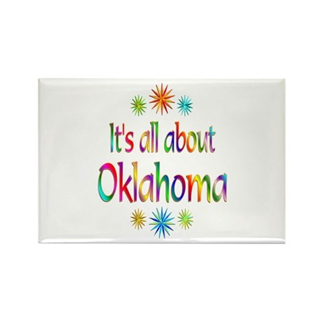 Oklahoma Rectangle Magnet (100 pack)