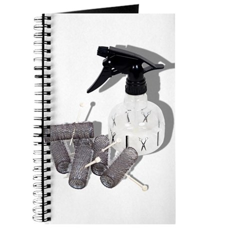 Hair Rollers and Spray Bottle Journal