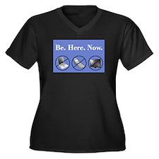 Cell phones Women's Plus Size V-Neck Dark T-Shirt