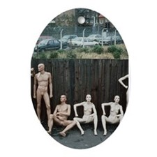 Cute Nude naked photos Ornament (Oval)
