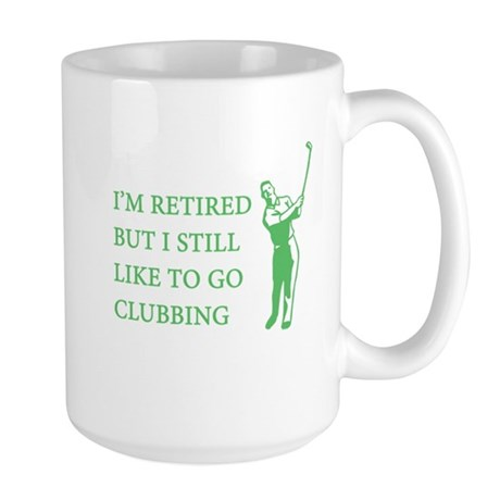 Golf Clubbing Large Mug