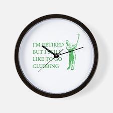 Golf Clubbing Wall Clock