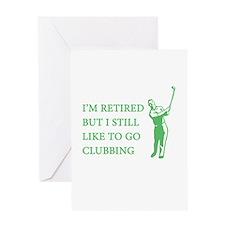 Golf Clubbing Greeting Card