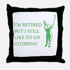 Golf Clubbing Throw Pillow