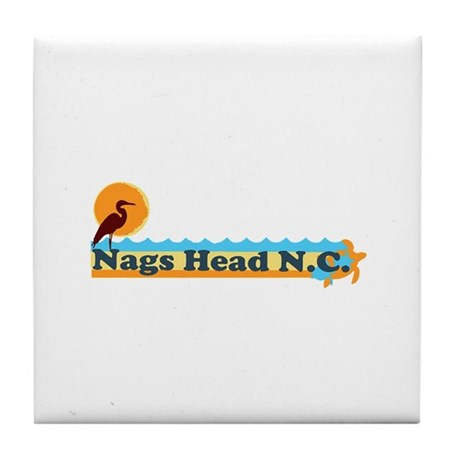 Nags Head NC - Beach Design Tile Coaster