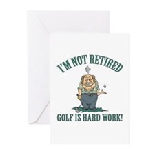 Golf Is Hard Work Greeting Cards (Pk of 10)