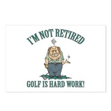 Golf Is Hard Work Postcards (Package of 8)