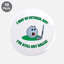 "Golf Balls 3.5"" Button (10 pack)"