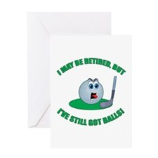 Golf Balls Greeting Card