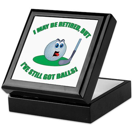 Golf Balls Keepsake Box