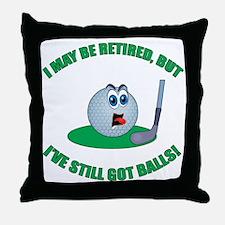 Golf Balls Throw Pillow