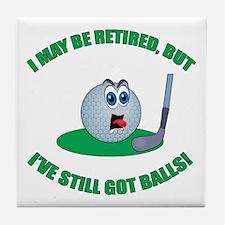 Golf Balls Tile Coaster