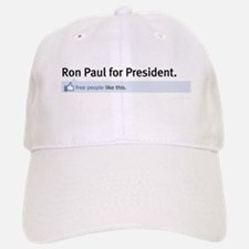 Ron Paul Status Update Baseball Baseball Cap