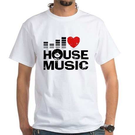 I Love House Music White T-Shirt